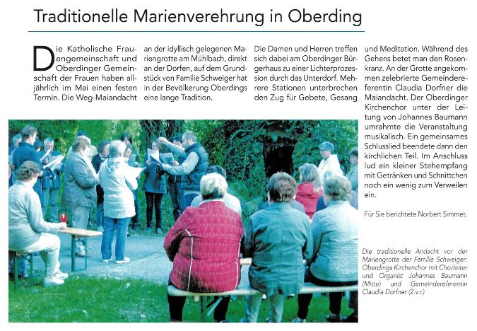 2017-06-16_Pressebericht_Wegmaiandacht_Oberding_Oberdinger_Kurier_04