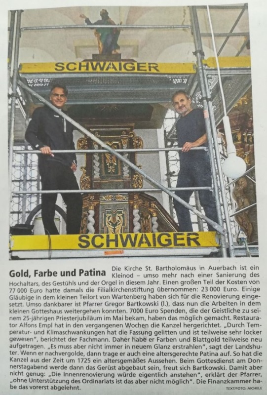 Bericht Priesterjubiläum MM Wartenberg