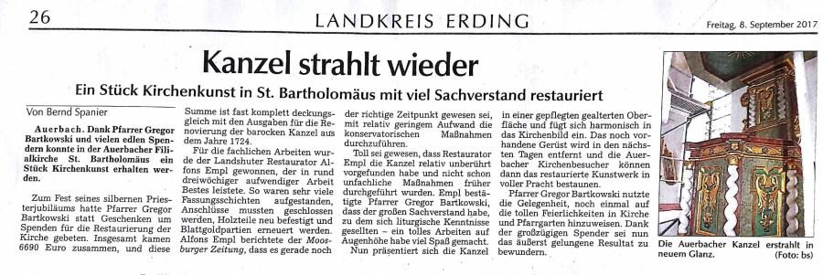 Bericht MZ 8.9.2017 Priesterjubiläum