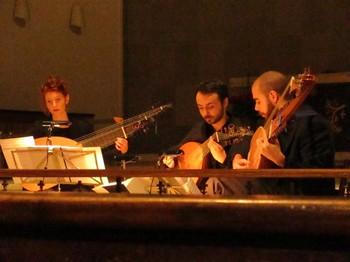 ANdreaskonzert 2016, Cornelia Demmer, Lorenzo Abate und Jacopo Sabina, Theorben und Laute