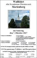Wallfahrt Marienberg Plakat 2017