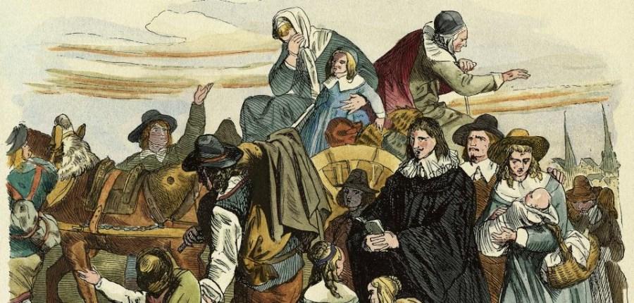 Ein Holzstich aus dem Jahr 1860 zeigt die Hugenotten auf dem Weg in die Mark Brandenburg<br/>Quelle: pa/akg-images/akg/akg-images