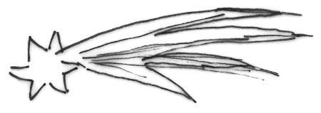 Adventskalender 1. Türchen Sternschnuppe