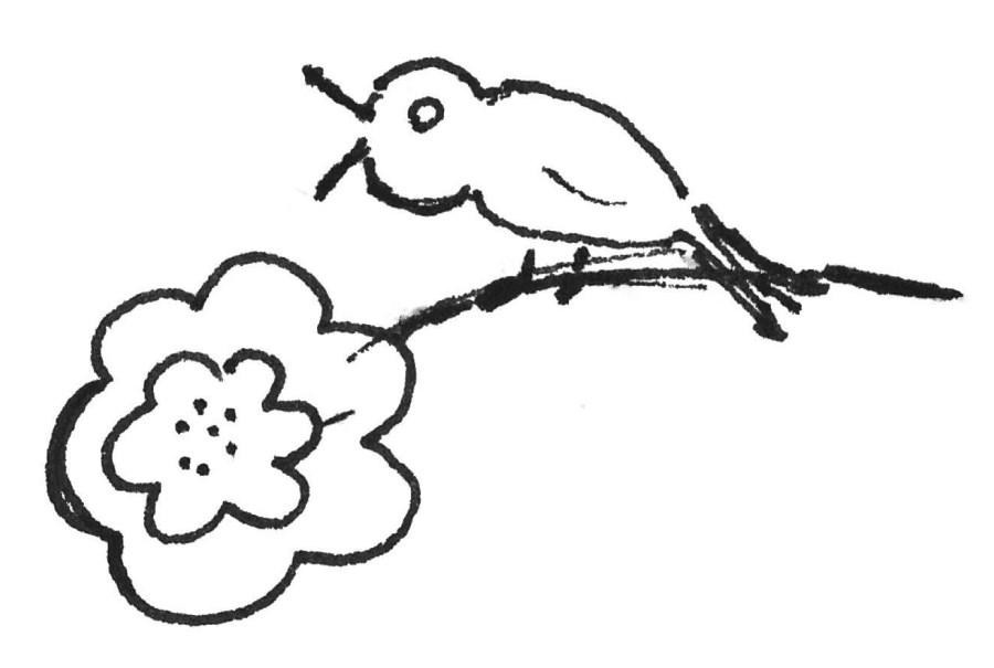 Vogel Kinderzeichnung