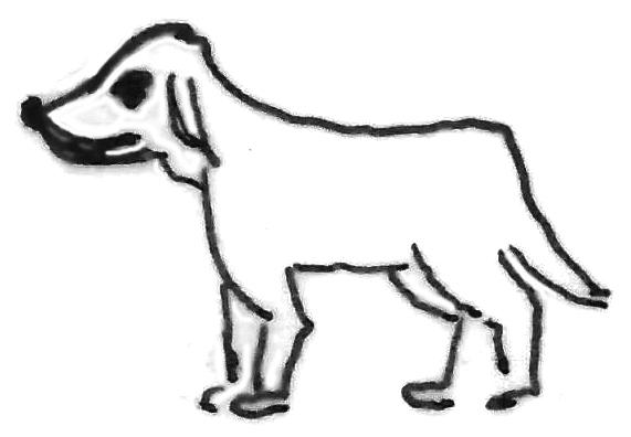 Hund Kinderzeichnung