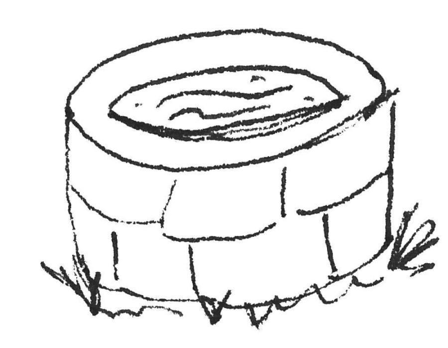 Brunnen Kinderzeichnung