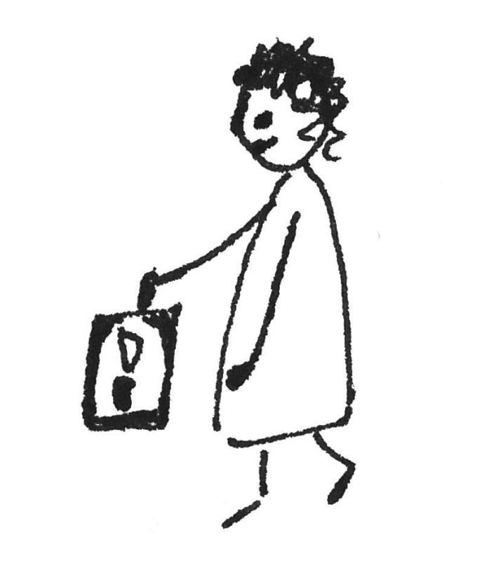 Kind mit Laterne Kinderzeichnung