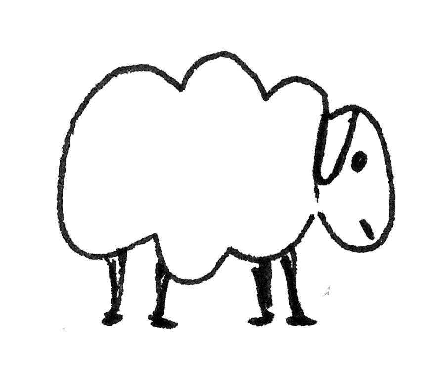 Schaf Kinderzeichnung