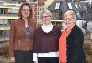 Mitarbeiterinnen des SkF Alexandra Krois, Carmen Zwerger und Marina Macke