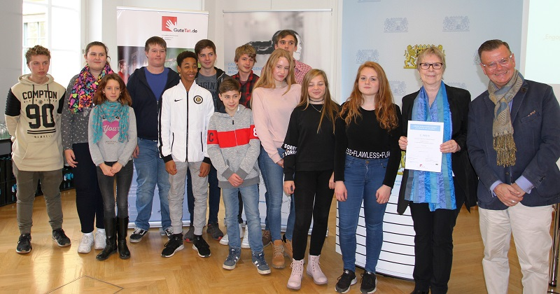 Monika Spensberger Preisverleihung Comenius Schule Grafing