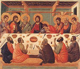 Letztes Abendmahl von Duccio di Buoninsegna