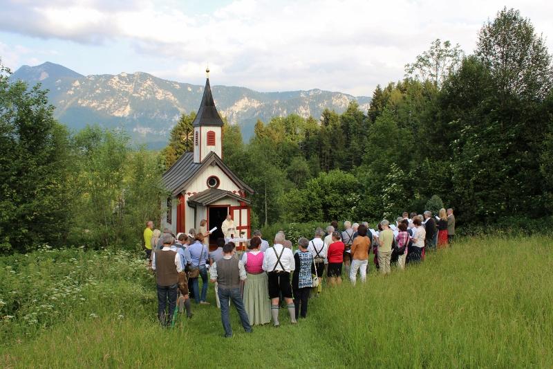 Gottesdienst an der Antonius Kapelle