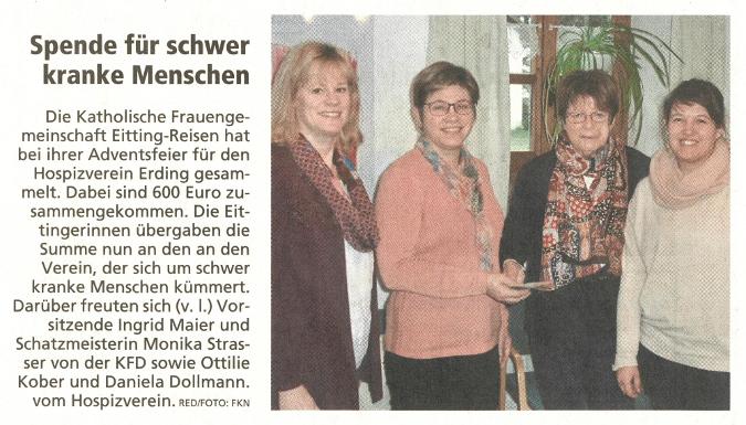 2018-01-09_Pressebericht_Spende_kfd_Eitting_Erdinger_Anzeiger_03