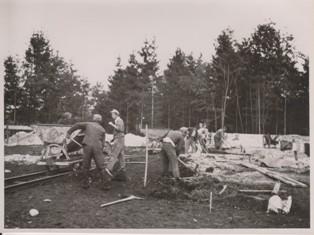 Baubeginn am 05.10.1950