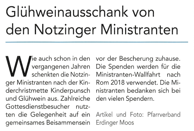 2018-01-12_Pressebericht_Gluehweinausschank_Minis_Notzing_Oberdinger_Kurier_03