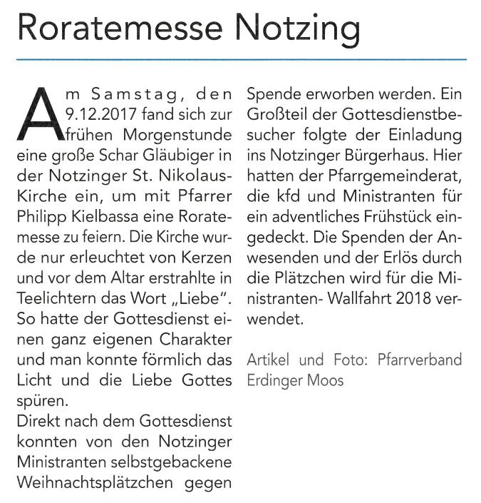 2018-01-12_Pressebericht_Roratemesse_Notzing_Oberdinger_Kurier_02