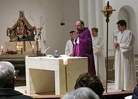 Pfarrer Scheifele beim Aschermittwochs-Gottesdienst