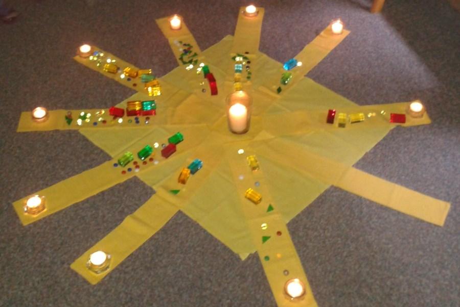 Anschauung Licht einer Kerze