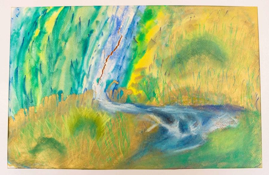 Gemälde einer Seniorin