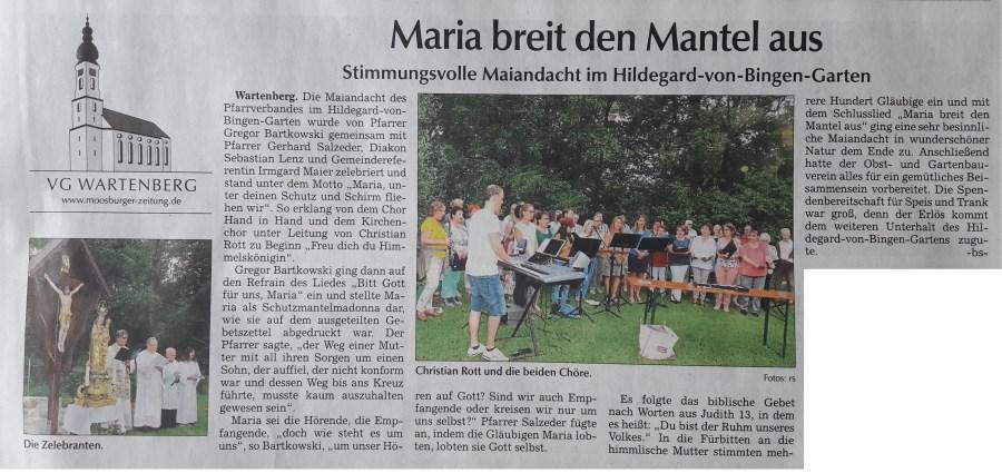 Maiandacht PV-Wartenberg 27.05.2018