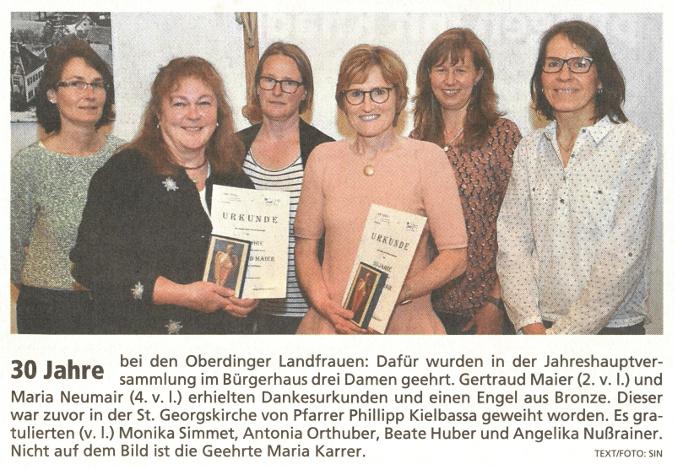 2018-06-04_Pressebericht_30_Jahre_Landfrauen_Oberding_Erdinger_Anzeiger_02