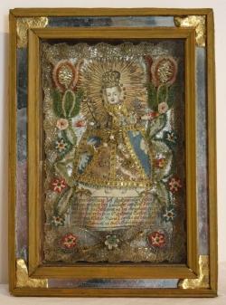 Klosterarbeit mit Reutberger Kindl, 18. Jh.