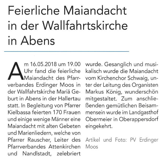 2018-07-13_Pressebericht_Maiandacht_PV_Oberdinger_Kurier_02