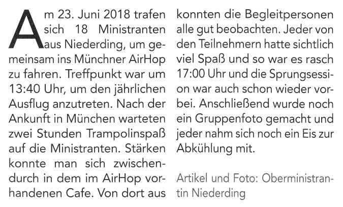 2018-07-13_Pressebericht_Ausflug_Ministranten_Niederding_Oberdinger_Kurier_03