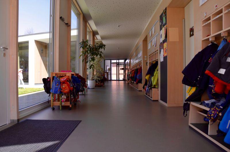 Flur im neuen Kindergarten