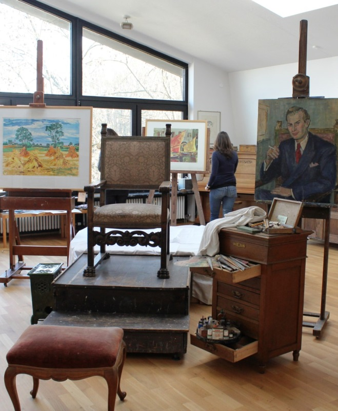 Blick ins AtelierMuseum Magda Bittner-Simmet