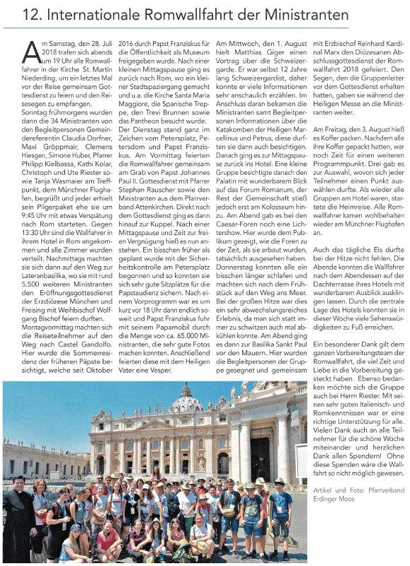 2018-08-24_Pressebericht_Ministrantenwallfahrt_Rom_PV_Oberdinger_Kurier_03