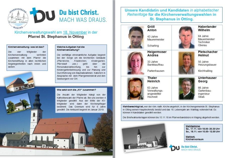KandidatInnen zur Kirchenverwaltungswahl in Otting