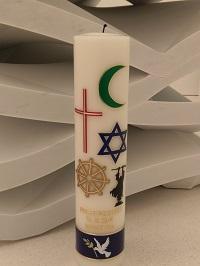 Friedensgebetskerze