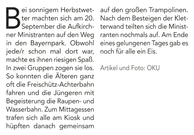 2018-11-09_Pressebericht_Ausflug_Aufkirchner-Minis_Oberdinger_Kurier_06