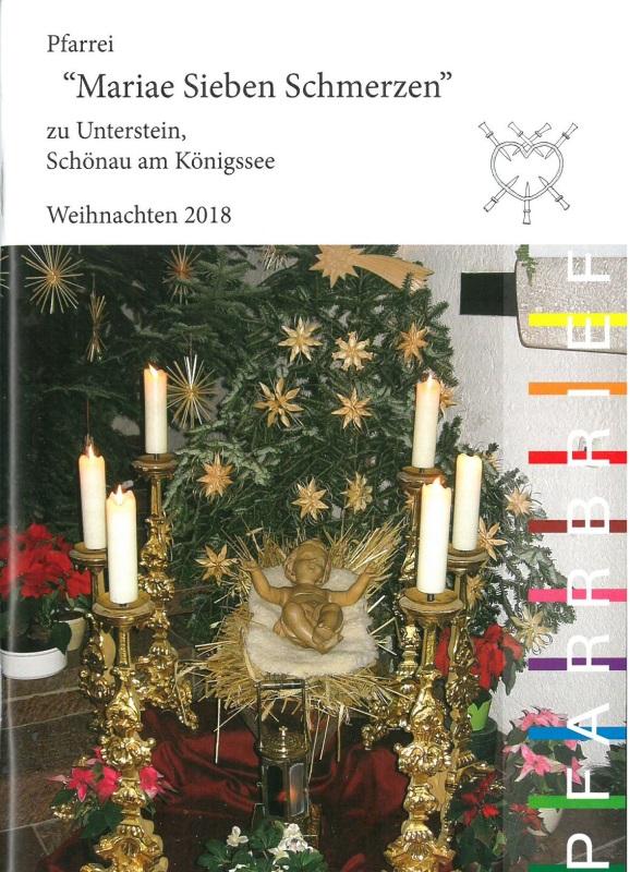 Deckblatt Weihnpfarrbrief 2018