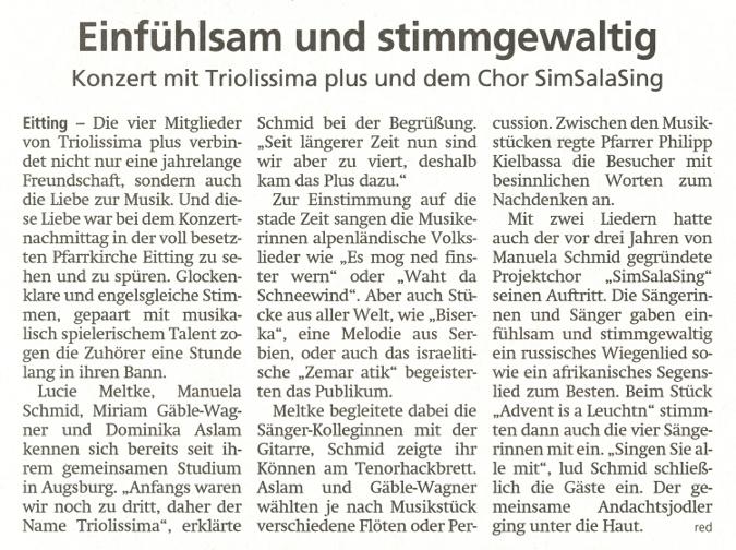 2018-12-12_Pressebericht_Adventskonzert_Eitting_Erdinger_Anzeiger_03