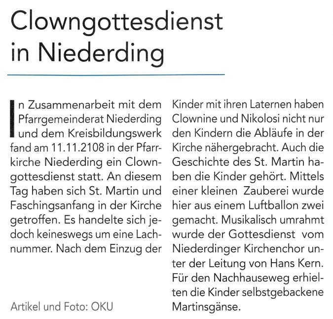 2018-12-07_Pressebericht_Clowngottesdienst_Niederding_Oberdinger_Kurier_02
