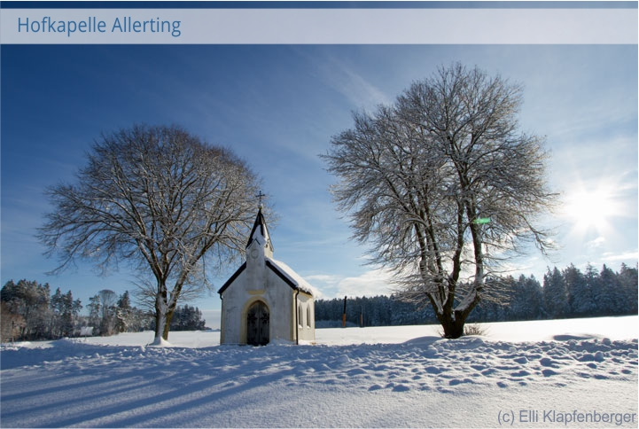 Kapelle Allerting Trostberg Winter