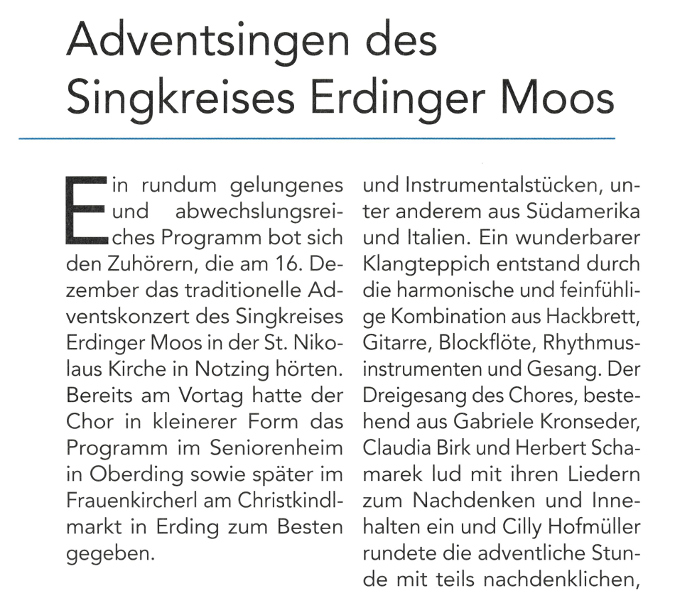 2019-01-11_Pressebericht_Adventsingen_Singkreis_ED_Moos_Notzing_Oberdinger_Kurier_04