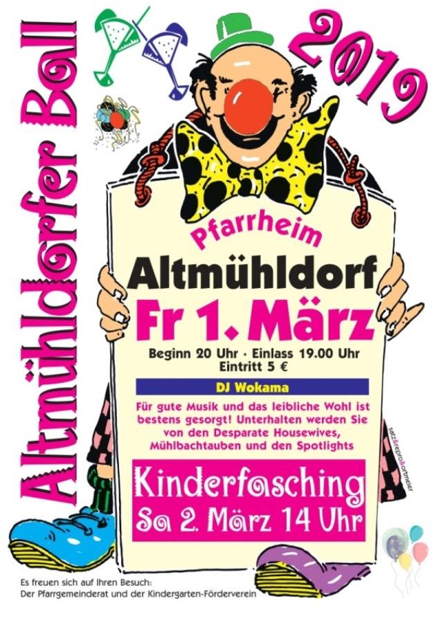 Pfarrfasching 2019 St. Laurentius - Altmühldorf