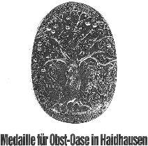 Medaille für Obst-Oase