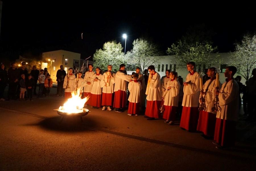Osternacht Feuer