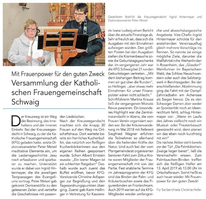 2019-04-05_Pressebericht_Kreuzwegandacht_kfd_Schwaig_Oberdinger_Kurier_03