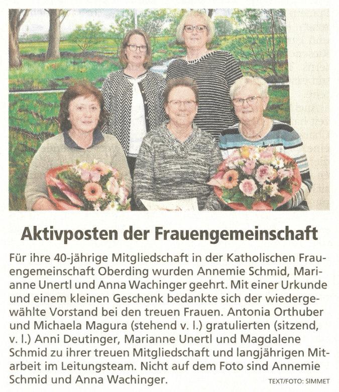 2019-04-29_Pressebericht_Ehrungen_kfd_OGdF_Oberding_Erdinger_Anzeiger_03