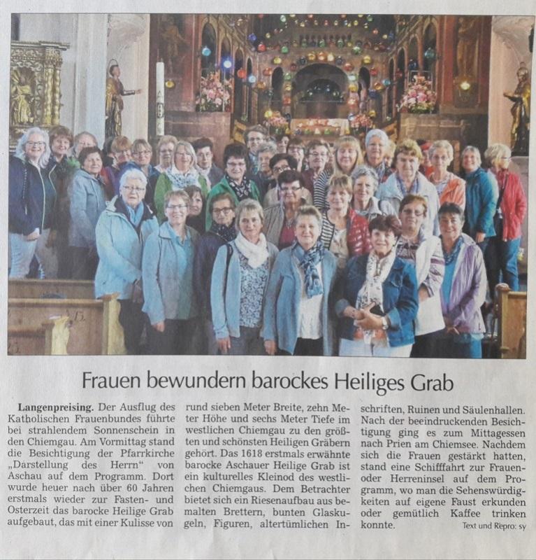 2019 Ausflug Frauenbund Langenpreising