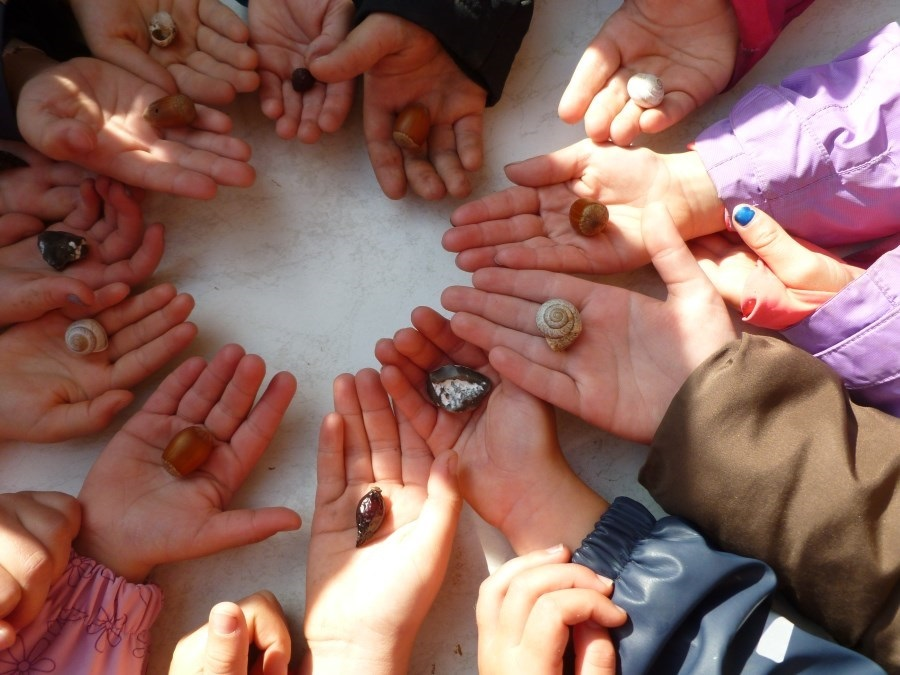 Händer der Kinder