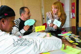 Sprachkurs mit Flüchtlingen