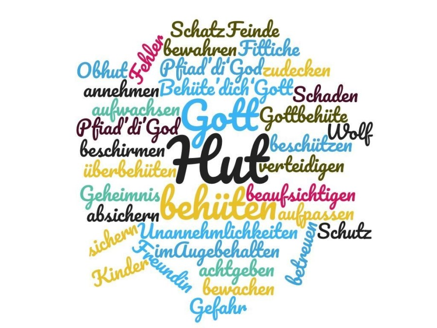 Wordcloud behütet sein