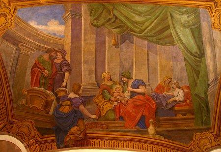 Deckenfresko von Mariä Geburt