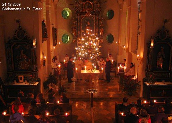 Christmette in St. Peter